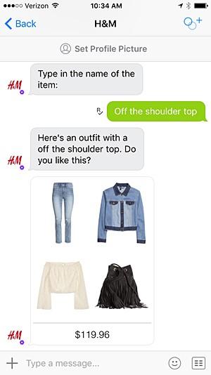H & M chatbot