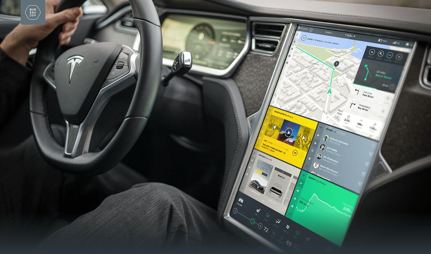Tesla Intuitive UI