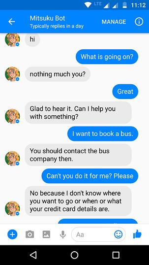 AI chatbot Mitsuku