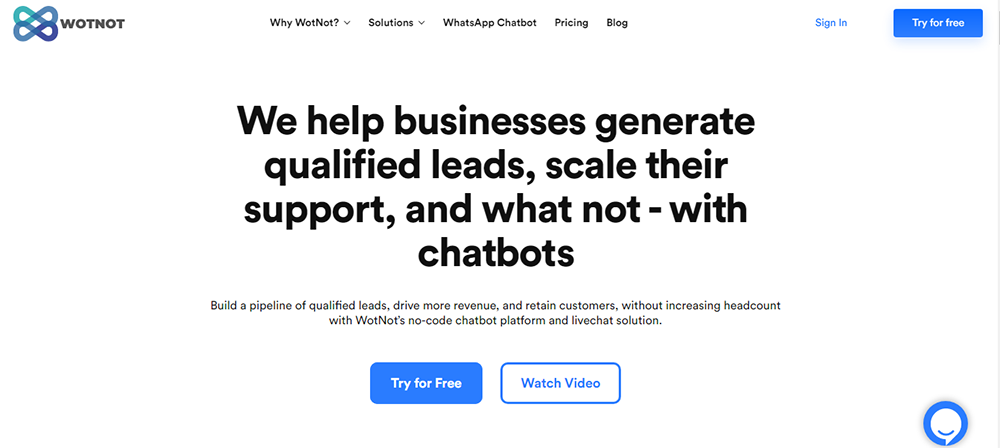 Chatbot development platform - WotNot
