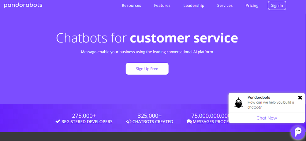 Chatbot development platform - pandorabots