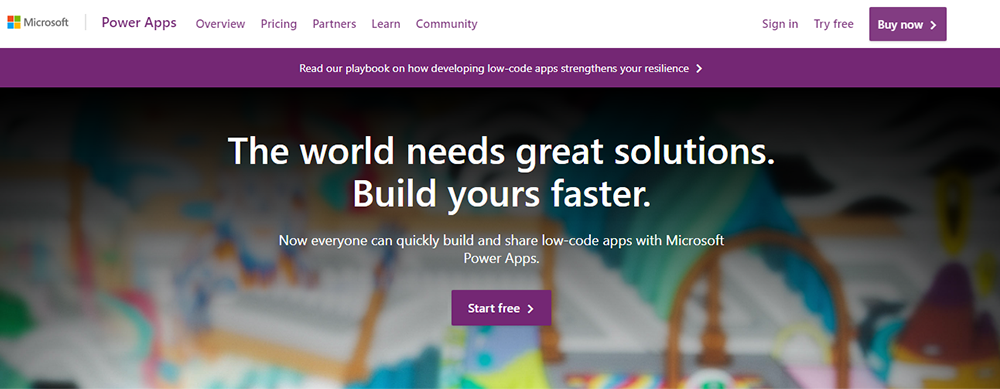 Low Code Platform - Microsoft Power Apps